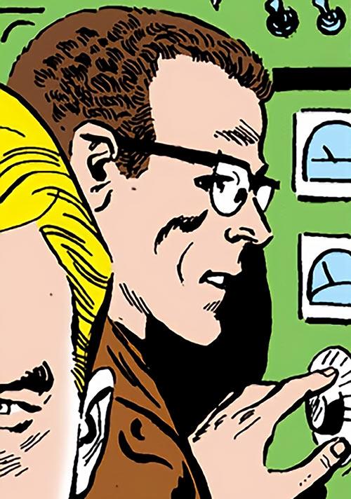 Hugh Evans of the Suicide Squad (DC Comics) adjusting a dial