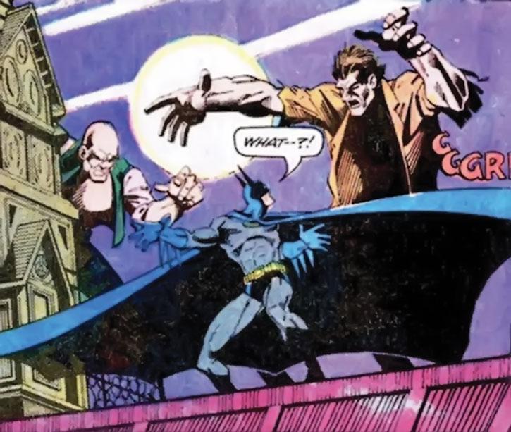 Hugo Strange's giants attack Batman