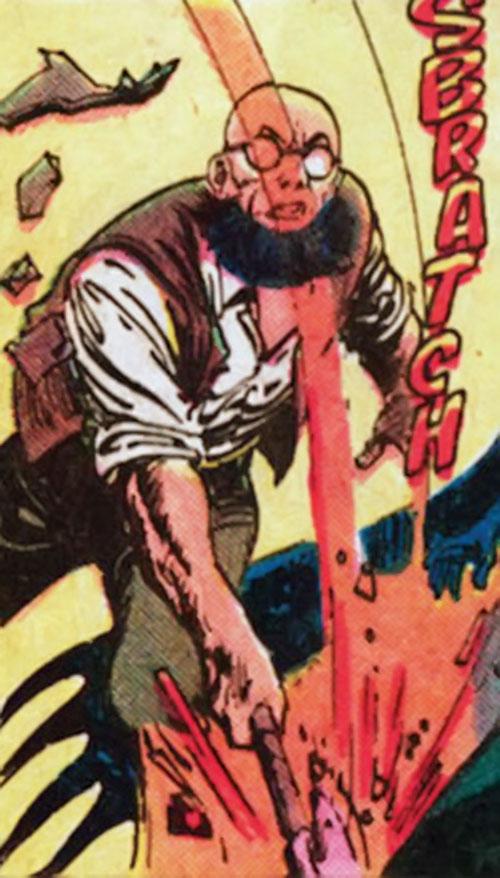 Hugo Strange (Batman enemy) (DC Comics) swinging an axe