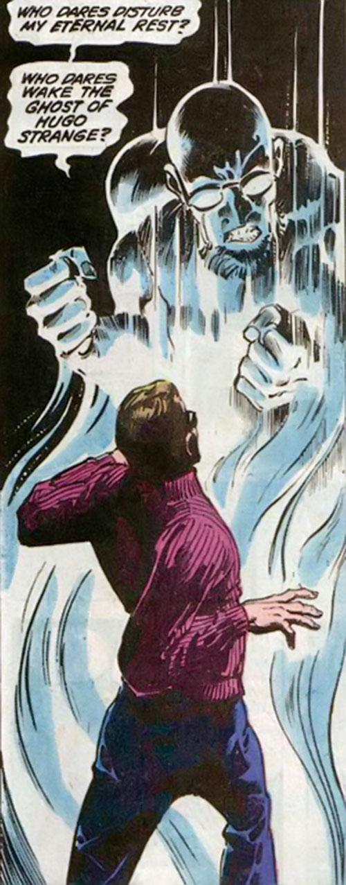 Hugo Strange (Batman enemy) (DC Comics) as a supposed ghost