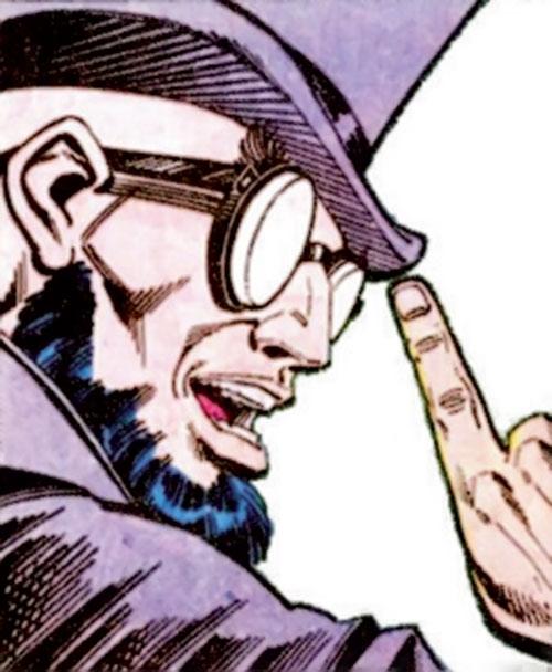 Hugo Strange (Batman enemy) (DC Comics) face closeup with top hat