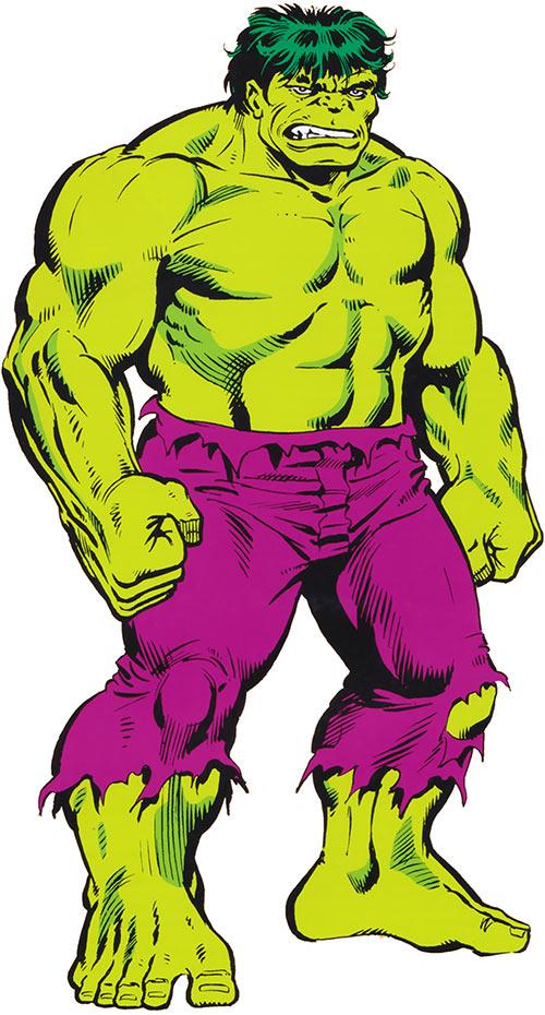 Hulk (Marvel Comics iconic) 1980s handbook art