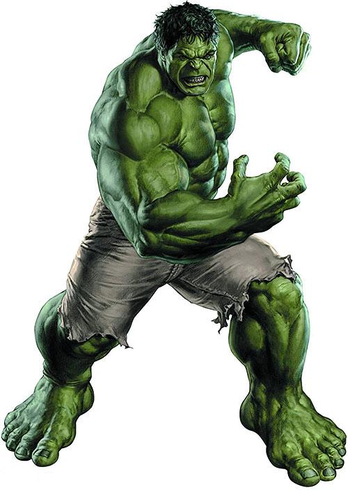 Hulk (Marvel Comics iconic) movie version photorealistic art