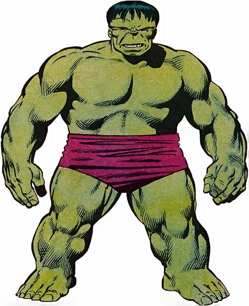 Hulk (Marvel Comics iconic) 1986 handbook art