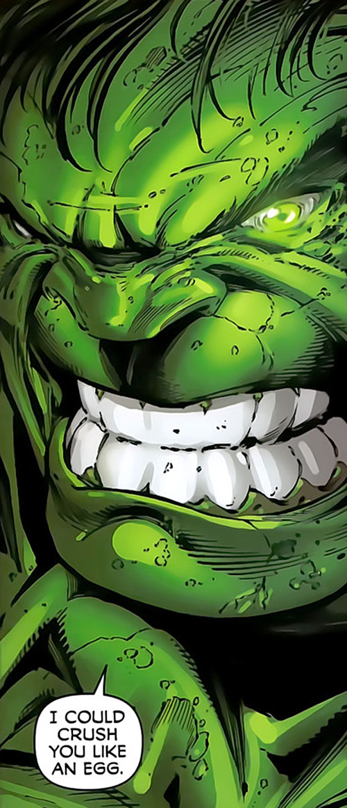 Hulk (Marvel Comics iconic) angry face closeup