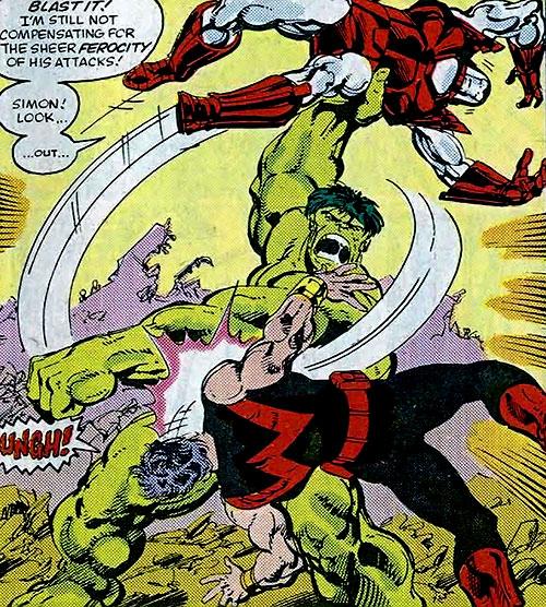 Hulk (Marvel Comics iconic) vs. Wonder Man and Iron Man