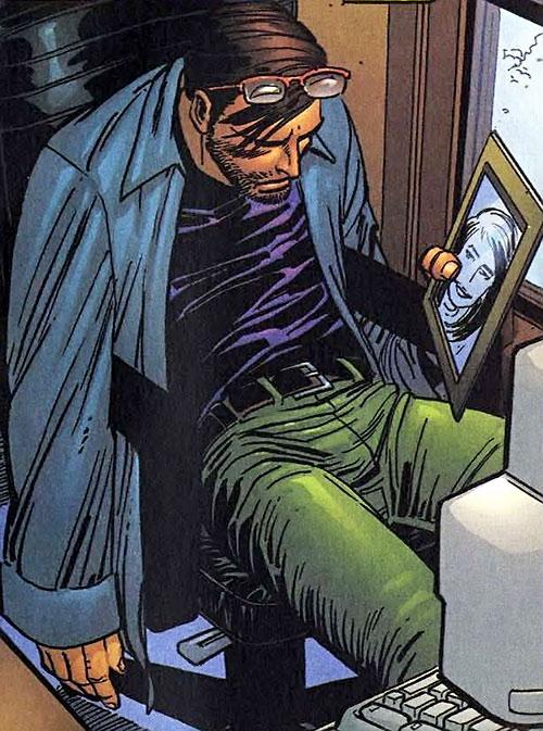 Hulk (Marvel Comics iconic) Bruce Banner depressed