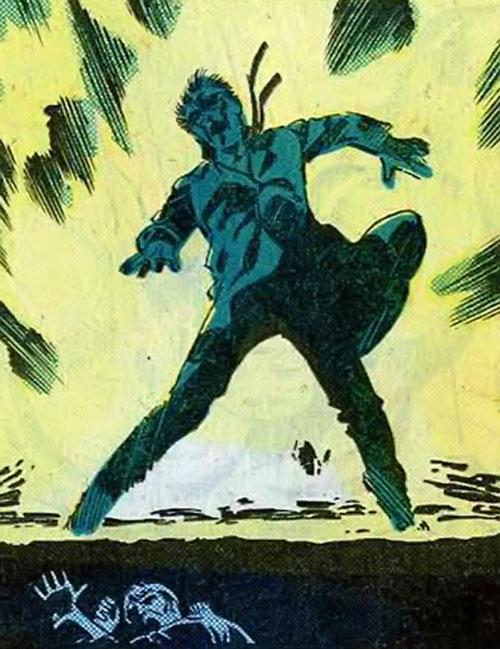 Hulk (Marvel Comics iconic) Bruce Banner caught in the gamma blast