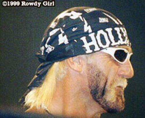 Hulk Hogan closeup by Rowdy Girl