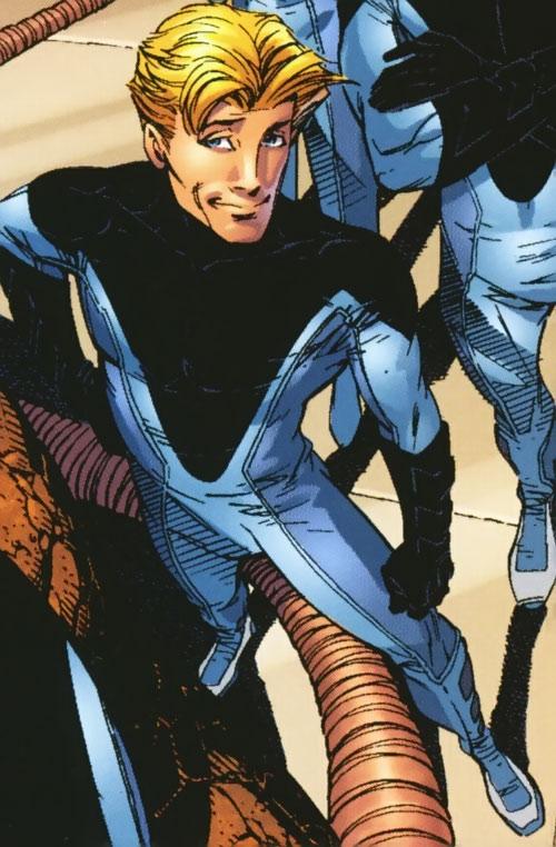 Ultimate Human Torch (Ultimate Marvel Comics) high angle shot