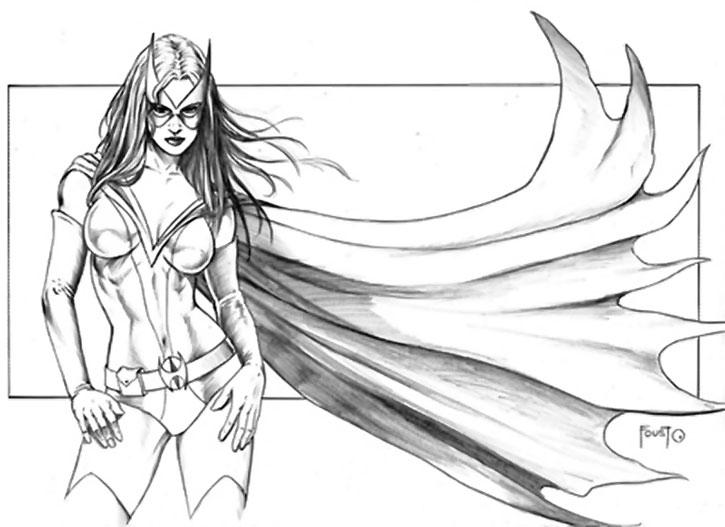 Huntress (Helena Bertinelli) sketch by Mitch Foust