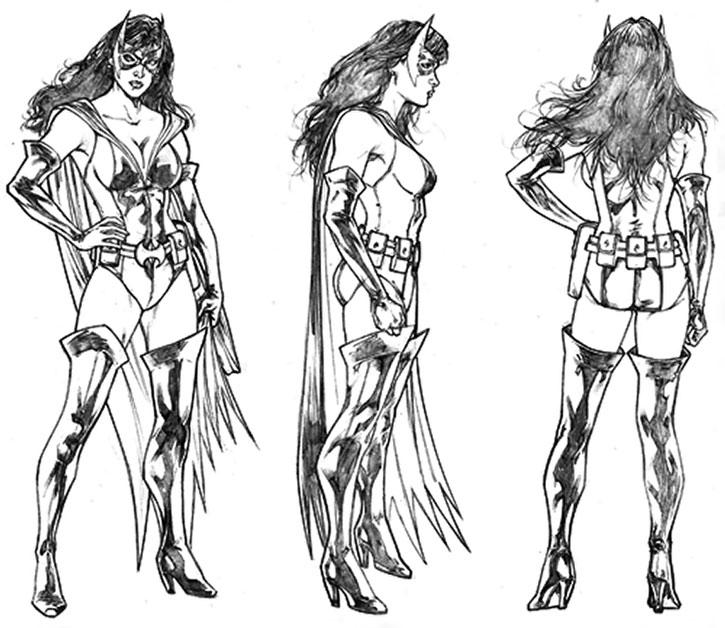 Huntress (Helena Wayne) sketched model sheet