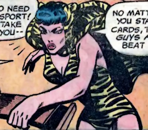 Huntress (Wildcat enemy) (DC Comics Golden Age) looking angry