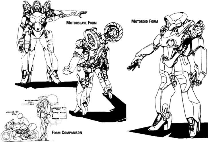 Bubblegum - Hurricane motorslave - Technical drawing
