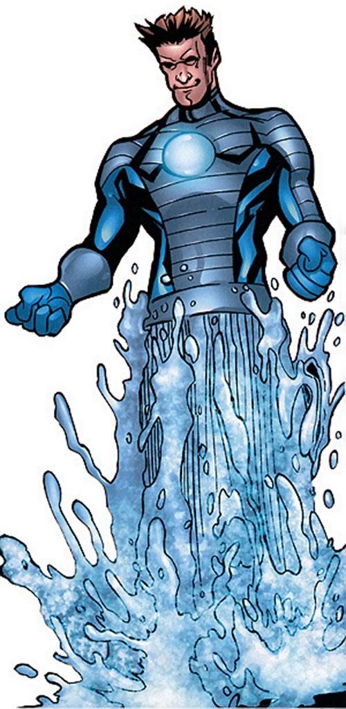 Hydroman (Marvel Comics) forms a geyser