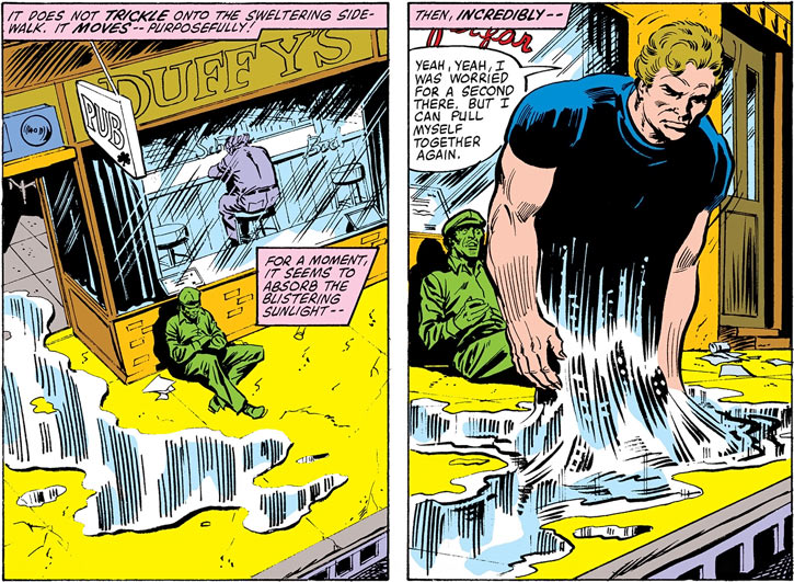 Hydroman discovers his power to become water