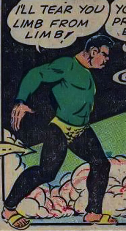 Ibac (Captain Marvel enemy) in a black and green costume