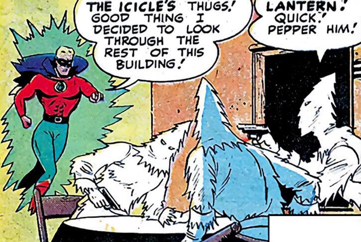 Icicle's henchmen face Green Lantern