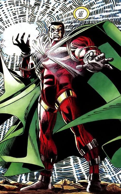 Icon (Milestone comics) with his hand blazing