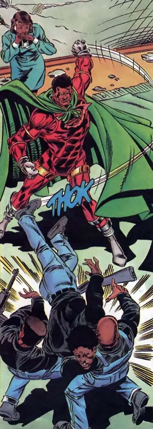 Icon (Milestone comics) backhands gunmen