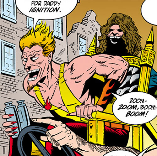 Ignition (Barb Wire enemy) (Dark Horse comics) on his throne