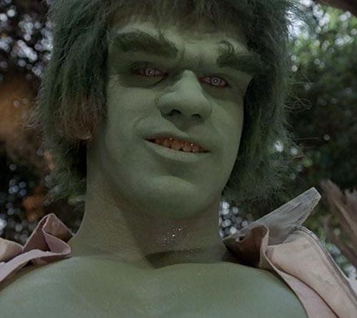 Hulk (Lou Ferrigno / Bill Bixby TV show) - Hulk grinning
