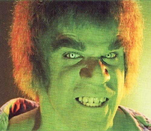Lou Ferrigno as the Hulk, face shot