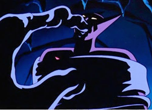 Inque (Batman Beyond enemy) engulfing Batman