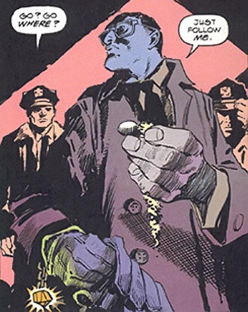 Inspector Judiah Golem (Marvel Comics) (Tomb of Dracula) and cops