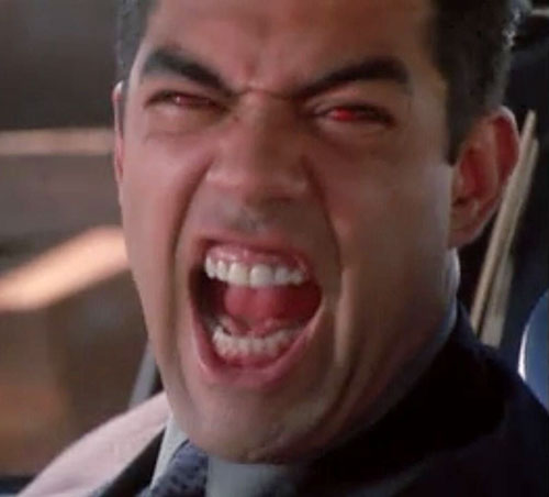 Inspector Rodriguez (Carlos Gomez in Charmed) demon scream red eyes