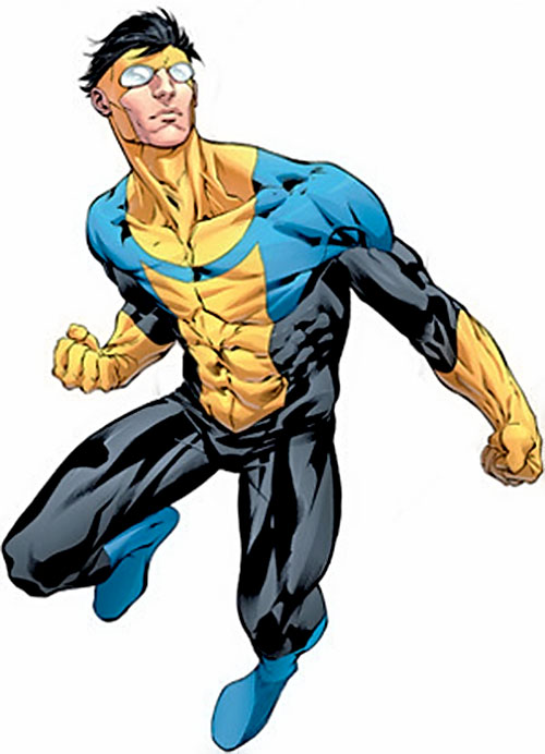 Invincible (Image Comics) flying in an heroic pose