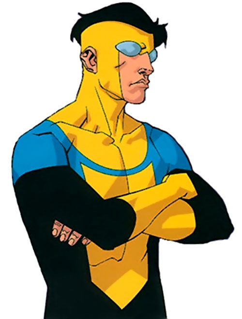 Invincible (Image Comics) with crossed arms