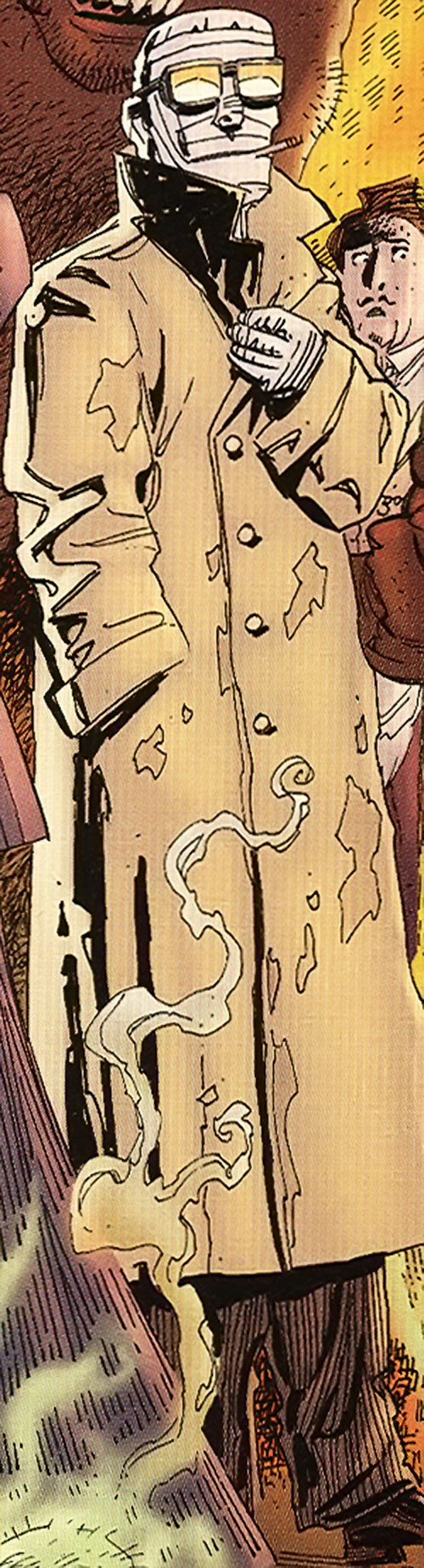 The Invisible Man (League of Extraordinary Gentlemen) with bandages and a coat