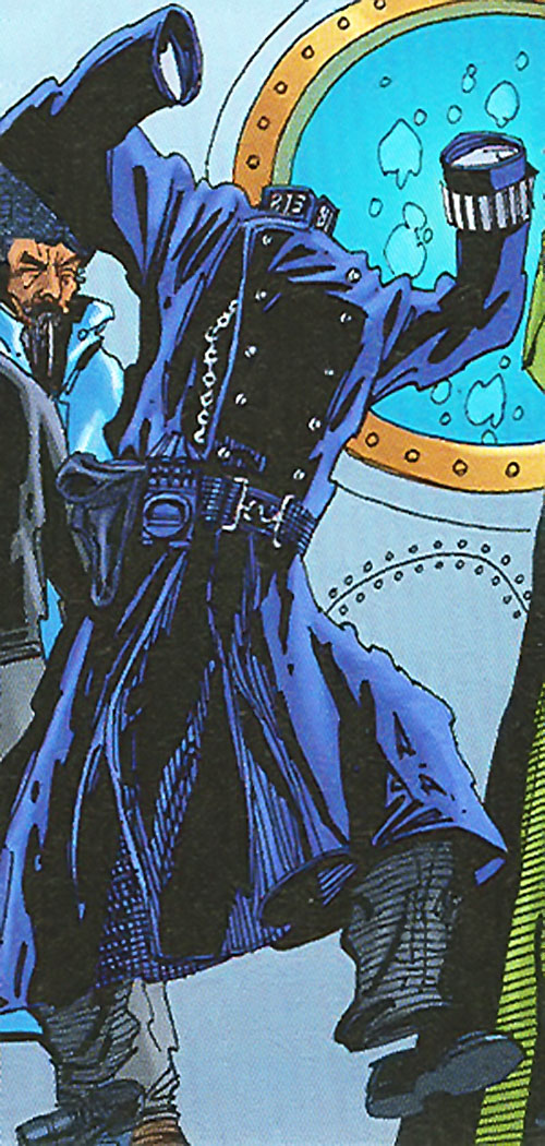 The Invisible Man (League of Extraordinary Gentlemen) in a police uniform