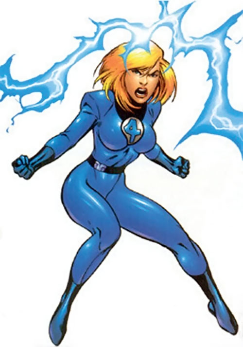 Modern Invisible Woman of the Fantastic Four using her power