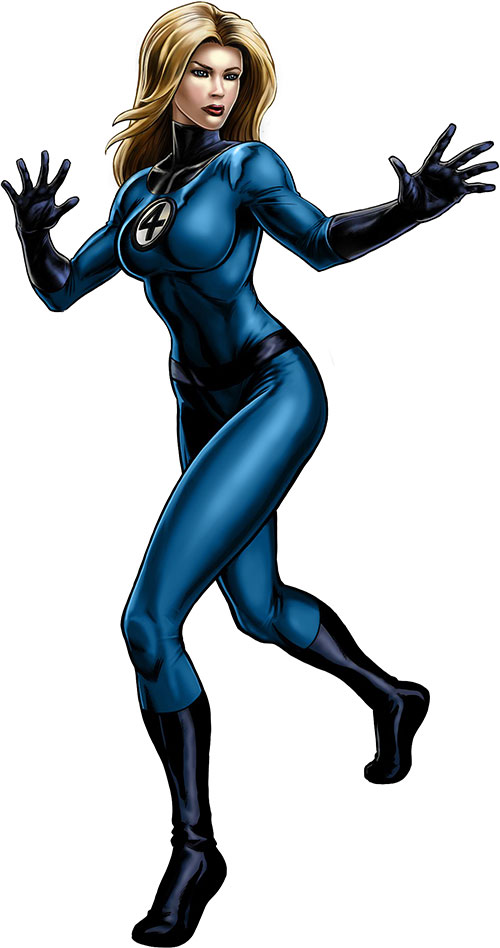 Modern Invisible Woman of the Fantastic Four using her force field