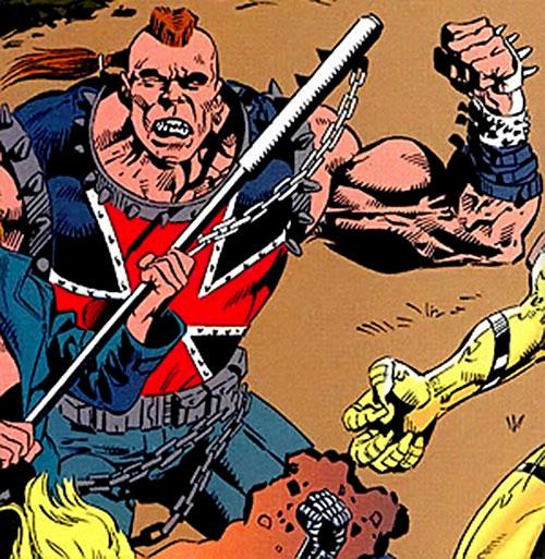 Iron Cross of the Cadre / Aryan Brigade (JLA enemy) (DC Comics) flexing