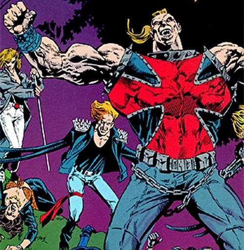 Iron Cross of the Cadre (JLA enemy) (DC Comics) with the Aryan Brigade