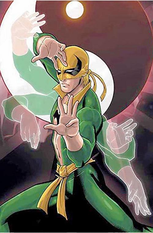 Iron Fist (Marvel Comics) doing a kata