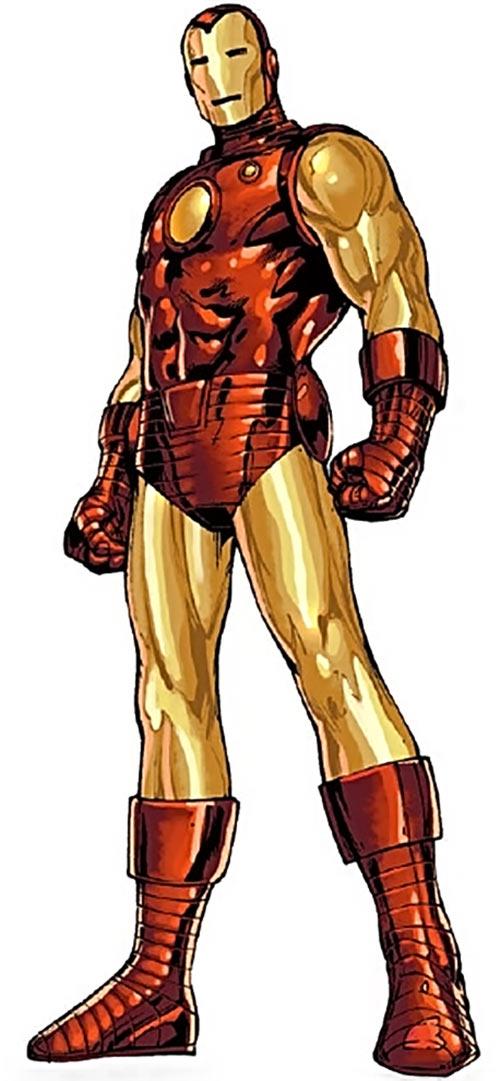 Iron Man Golden Avenger armor (Marvel Comics) standing