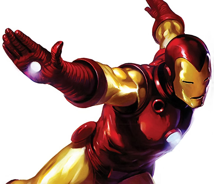 """""""Golden Avenger"""" Iron Man armour in action, painted"""