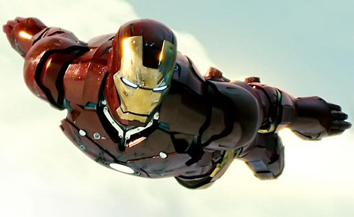Iron Man (movie version) in flight