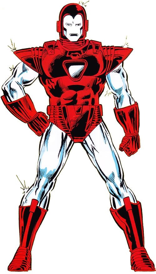 Iron Man Silver Centurion Armor (Marvel Comics) from the handbook