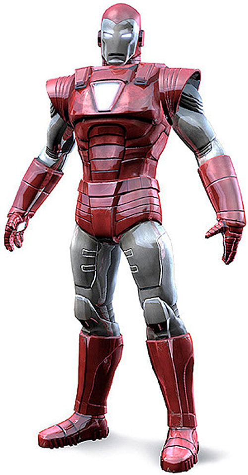 Iron Man Silver Centurion Armor (Marvel Comics) model render