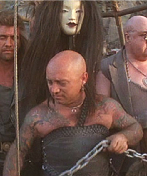 Ironbar (Angry Anderson in Mad Max) and two guards