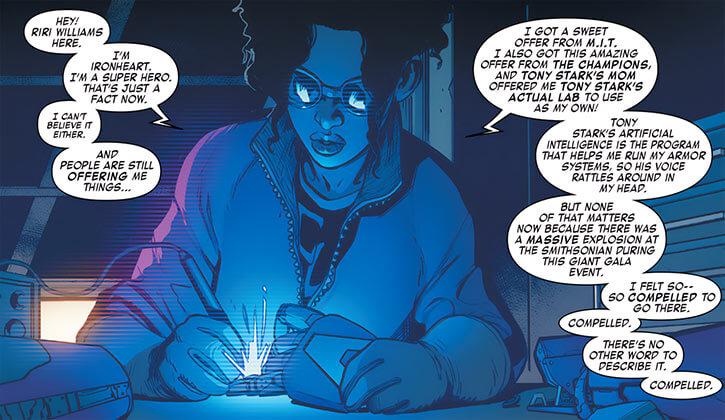 Ironheart - Marvel Comics - Riri Williams - Welding and recapping
