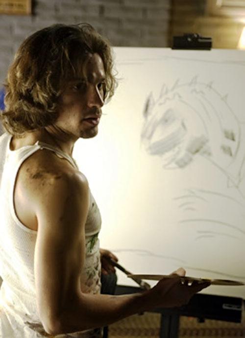 Isaac Mendez (Santiago Cabrera in NBC's Heroes) painting