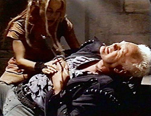 Isambard Prince (Nigel Bennett in LEXX) slain, and Xev