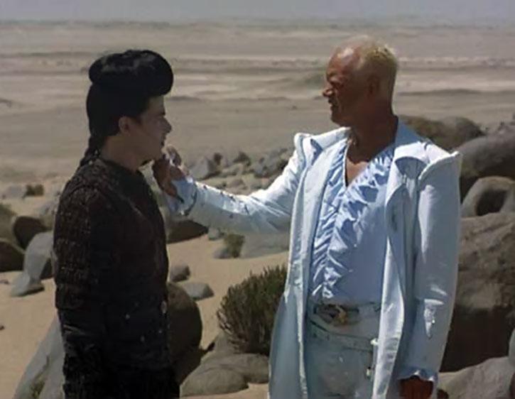 Isambard Prince (Nigel Bennett) and Kai in a desert
