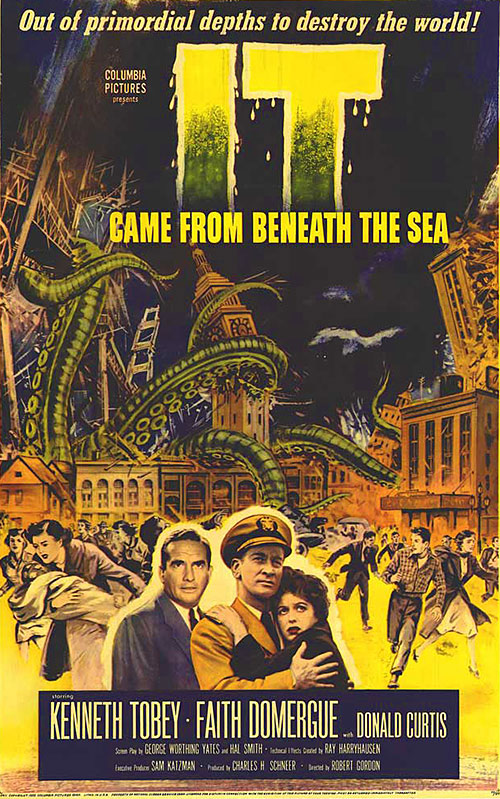 It Came From Beneath The Sea vintage movie poster